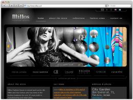 """Сайт бутика """"Millos"""""""